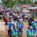 Caravana en celebración del 42/19 en las calles de Bilwi