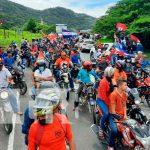 Jinotega realiza caravana en honor al 42/19
