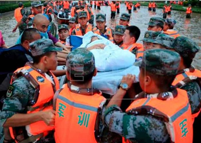 Foto: Miles de evacuados tras el desborde de otro río en China/Cortesía