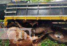 Desperfectos mecánicos provoca vuelco en Villa Sandino, Chontales