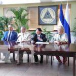 Reunión en Cancillería de Nicaragua con representantes de Crimea.