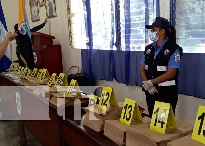 Conferencia de prensa sobre autor de crimen en Juigalpa