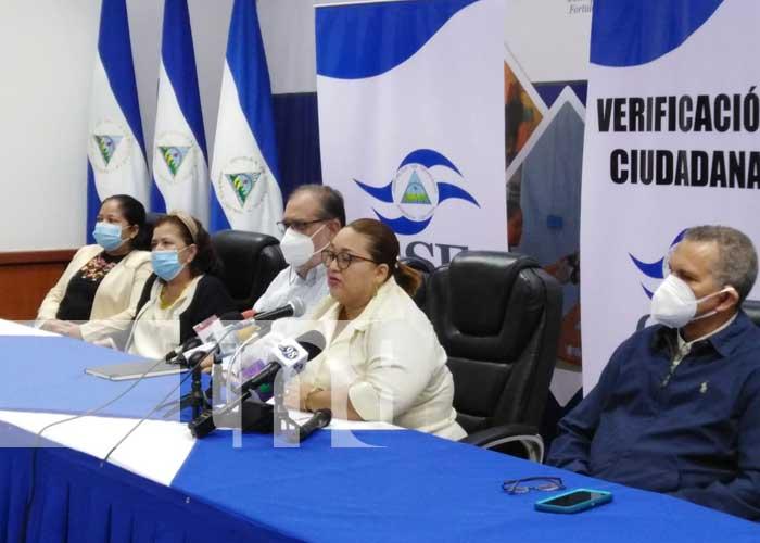 Conferencia de prensa del CSE sobre proceso de verificación ciudadana