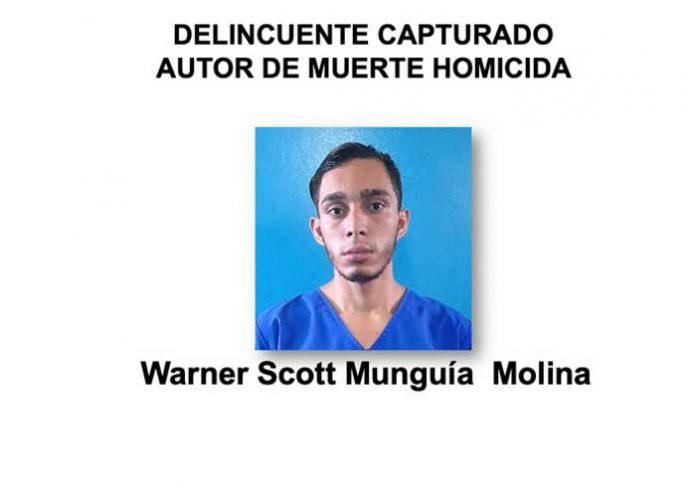 Sujeto capturado por la policía en Managua por homicidio