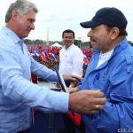 Presidente de Cuba, Miguel Díaz-Canel y Presidente de Nicaragua, Daniel Ortega