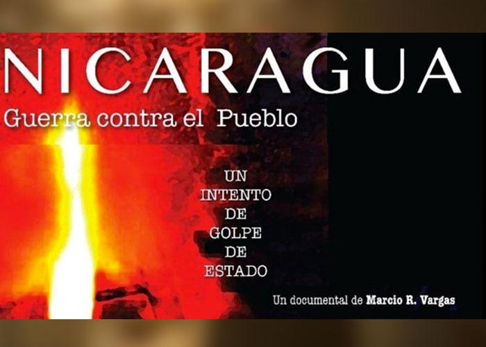 """Portada de documental """"Nicaragua: Guerra Contra el Pueblo"""""""