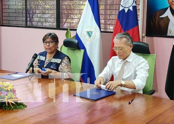 Acto por la firma de una donación por parte de Taiwán a Nicaragua para combatir el COVID-19