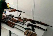Incautación de armas a narcos en España