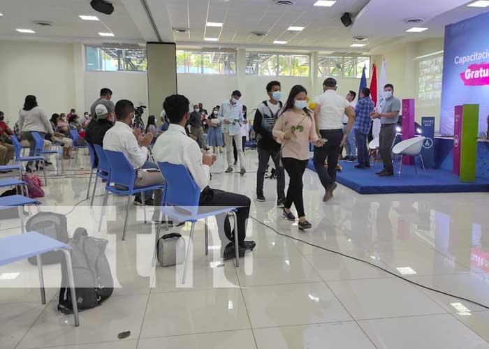 Acto del INATEC para conmemorar el Día del Estudiante en Nicaragua