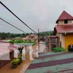 Intensas lluvias causan grandes inundaciones en El Castillo, Río San Juan
