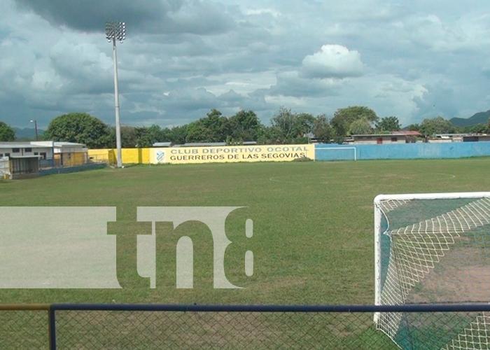 Imagen del estadio de fútbol de la ciudad de Ocotal
