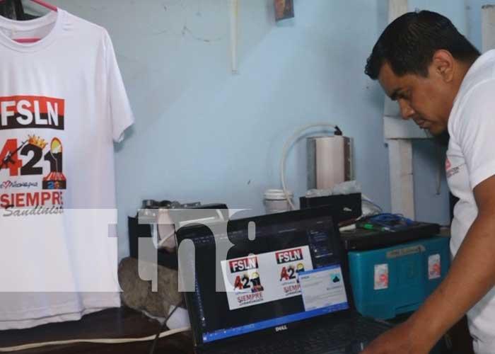 Emprendimiento de serigrafía y sublimación en Estelí