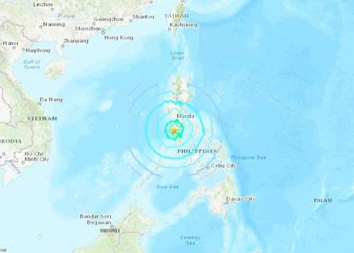 Terremoto de magnitud 6,7 frente a las costas de Filipinas