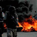Foto: Protestas violentas ensombrece misa en memoria de Moïse/Cortesía