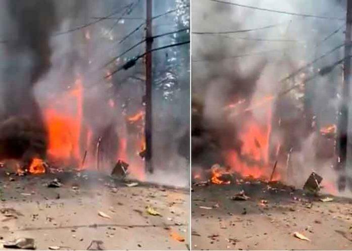 Cae avioneta en California y provoca fuerte incendio forestal
