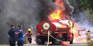 Momentos de un gran incendio en Rancho Grande, Matagalpa