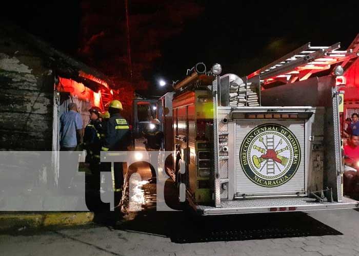 Foto: Incendio provocado por una mujer en Rivas