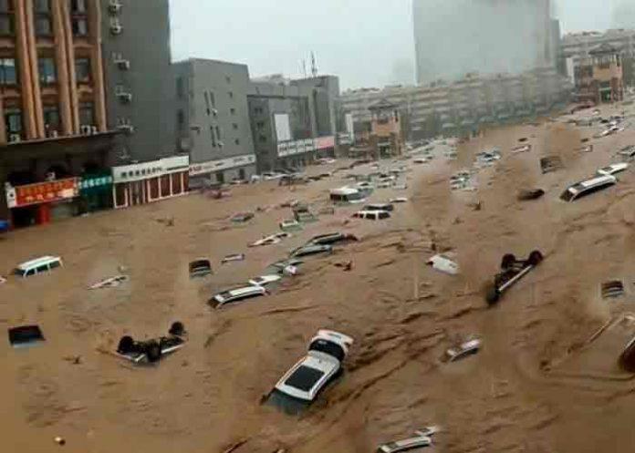 Récord de inundaciones mortales en China dejan al menos 25 fallecidos