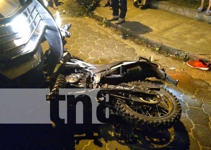 Escena del accidente mortal en El Jícaro, Nueva Segovia