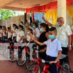 MINED entrega bicicletas a estudiantes del área rural de Juigalpa / FOTO / TN8