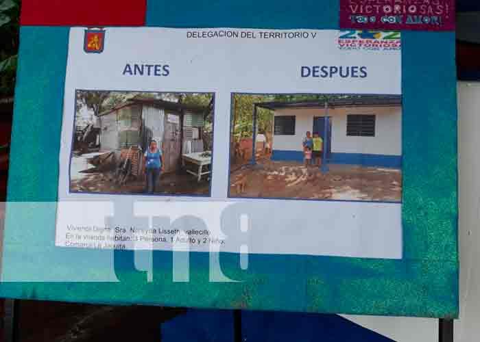 Casa numero 17 es entregada en Las Jagüitas - Managua