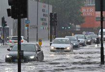 Foto: Lluvias torrenciales anegan calles en Londres / AFP
