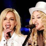Britney Spears junto a madona juntas en un concierto