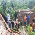 Los fuertes vientos dejan afectaciones en San Lucas, Madriz
