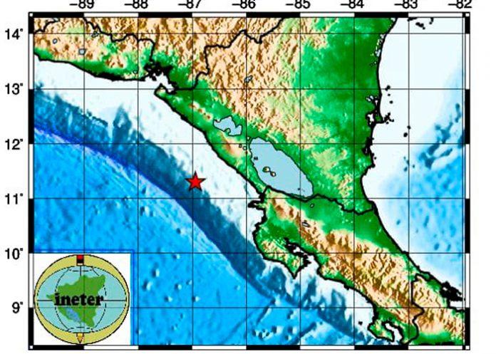 Foto: Dos sismos de magnitud 5.5 y 4.3 sacuden la costa del Pacífico de Nicaragua/Cortesía