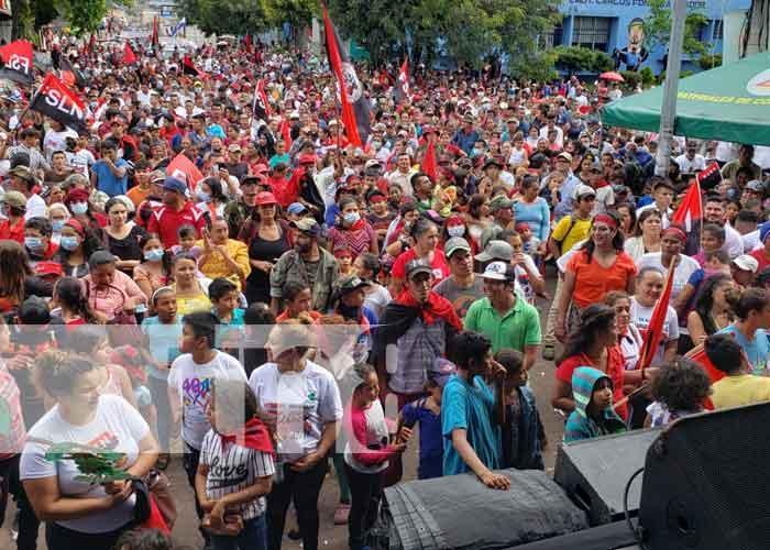 Conmemoración en Matagalpa por el 42/19 de la Revolución