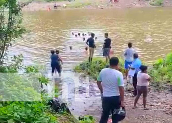Río Tecolostote, lugar donde falleció un menor en Boaco