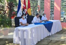 Conferencia de prensa del MINED en Nicaragua