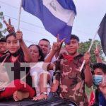 Militancia sandinista recorre calles de Tipitapa por el 42/19