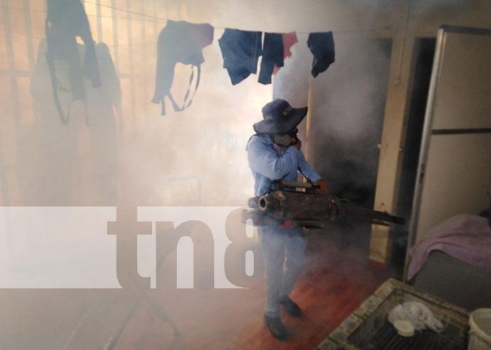 Jornada de fumigación para la salud en el barrio Adolfo Reyes