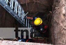 Momento exacto del rescate, en el barrio La Tomatera