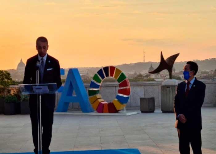 Inauguración del ingreso renovado, de la sede de la FAO