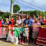 Inauguración de obras de progreso en el barrio Georgino Andrade, Managua