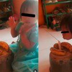 Improvisan 'pastel' con bananos para festejar el cumpleaños de su hija