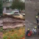 Impactante video del rescate de una familia que era arrastrada por una correntada