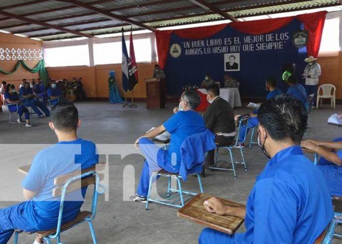 Acto en honor a Rubén Darío en el Sistema Penitenciario de Estelí