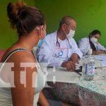 Atención médica a través de la clínica móvil en Managua