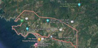 San Juan del Sur en vista satelital