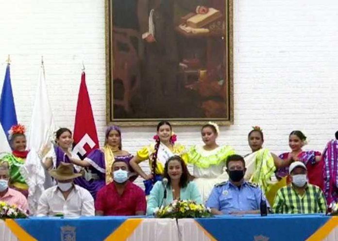 Conferencia de prensa sobre actividades en Managua por Santo Domingo