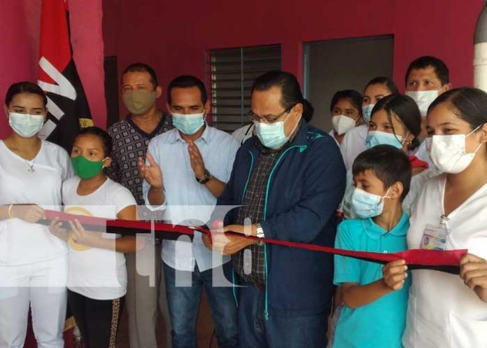 Inauguración de mejores en puesto médico de San Benito, Tipitapa