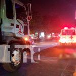 nicaragua, managua, accidente de transito, atropello, muerto, camión,