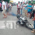 nicaragua, tipitapa, accidente de transito, moto, muerto,