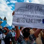 guatemala, protestas, campesinos, alejandro giammattei, renuncia