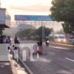 Motociclista se encuentra en estado delicado tras sufrir accidente de tránsito en Managua