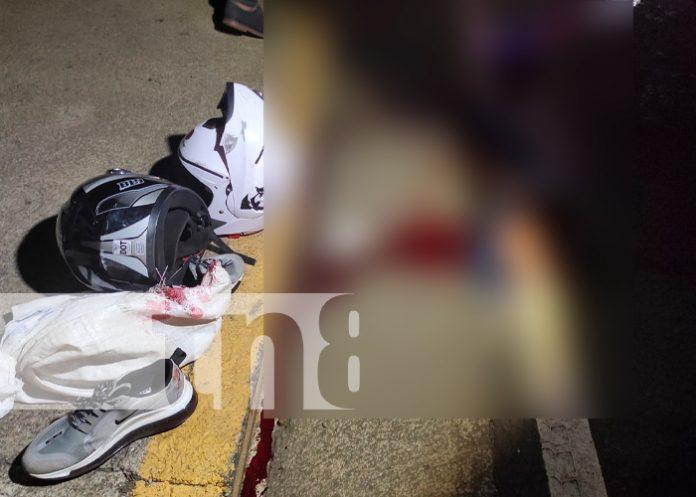 Accidente de tránsito deja un muerto y un lesionado en el km 12 de la Ctra. Sur