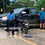 nicaragua, jalapa, accidente de transito, imprudencia, mala maniobra,